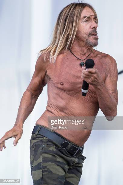 Iggy Pop performs live on stage at Finsbury Park on June 30 2018 in London England