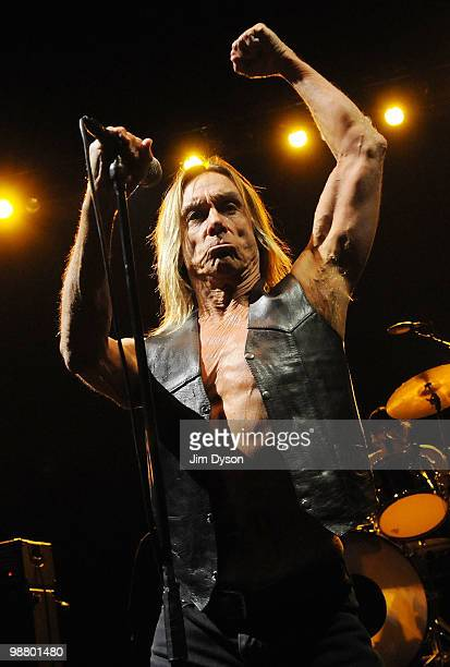Iggy Pop performs live on stage with The Stooges at Hammersmith Apollo on May 2 2010 in London England Iggy Pop and the Stooges performed the classic...