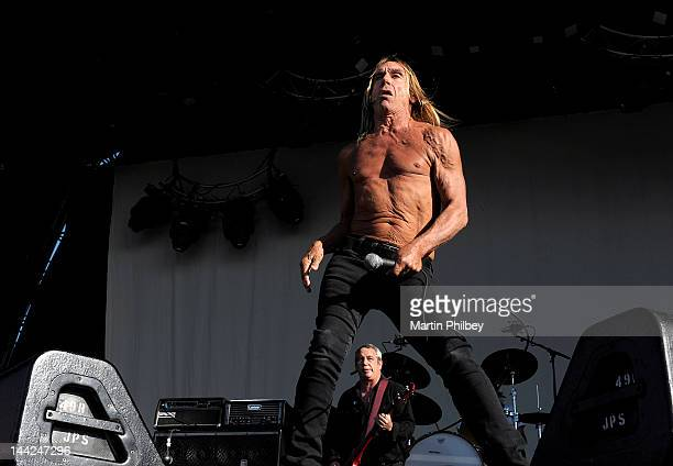 Iggy Pop performs on stage at the Melbourne Big Day out at Flemington racetrack on Sunday 30th January 2011 in Melbourne Australia
