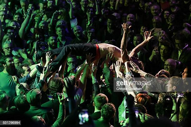 Iggy Pop performs on stage at the Royal Albert Hall on May 13 2016 in London England