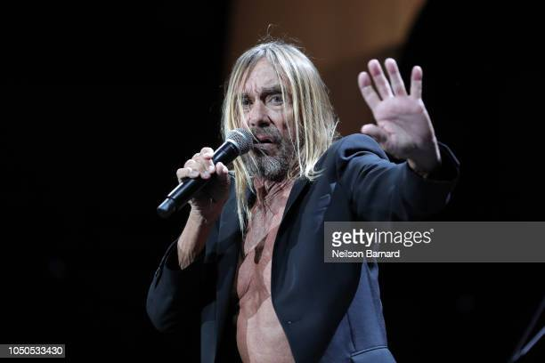 Iggy Pop performs on stage during Cal Jam 18 at Glen Helen Regional Park on October 06, 2018 in San Bernardino, California.