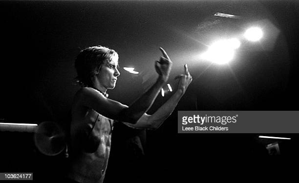 Iggy Pop performs on stage in 1969 in New York.