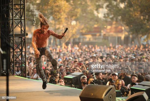 Iggy Pop performs onstage on day 3 of FYF Fest 2017 at Exposition Park on July 23, 2017 in Los Angeles, California.
