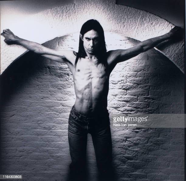 Iggy Pop, portrait, American Hotel, Amsterdam, Netherlands, 20th September 1993.
