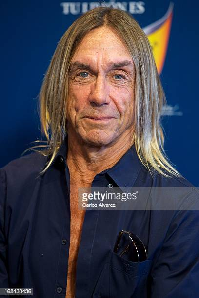 Iggy Pop presents the new Schweppes Limon Dry at La Caja Magica on May 9 2013 in Madrid Spain