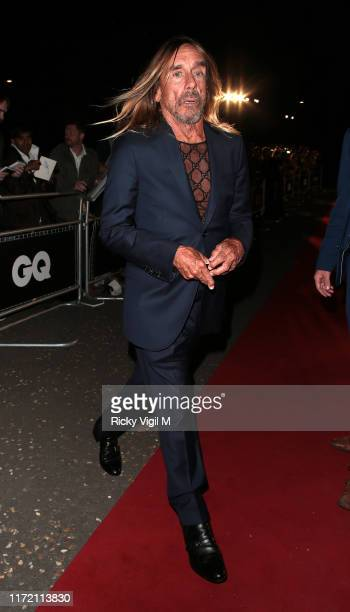 Iggy Pop seen leaving GQ Men of the Year Awards held at Tate Modern on September 03, 2019 in London, England.