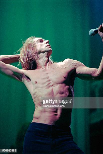 Iggy Pop vocal performs at the Paradiso on December 4th 1999 in Amsterdam Netherlands