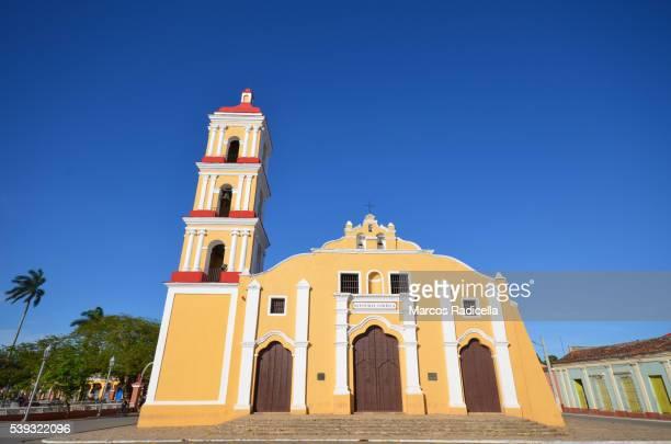 iglesia de san juan bautista, remedios, villa clara, cuba. - radicella stock photos and pictures