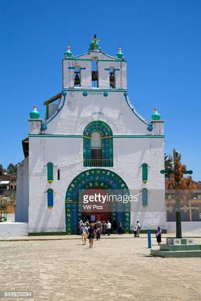 Iglesia de San Juan Bautista St John The Baptist Church San Juan Chamula near San Cristobal de las Casas Chiapas Mexico