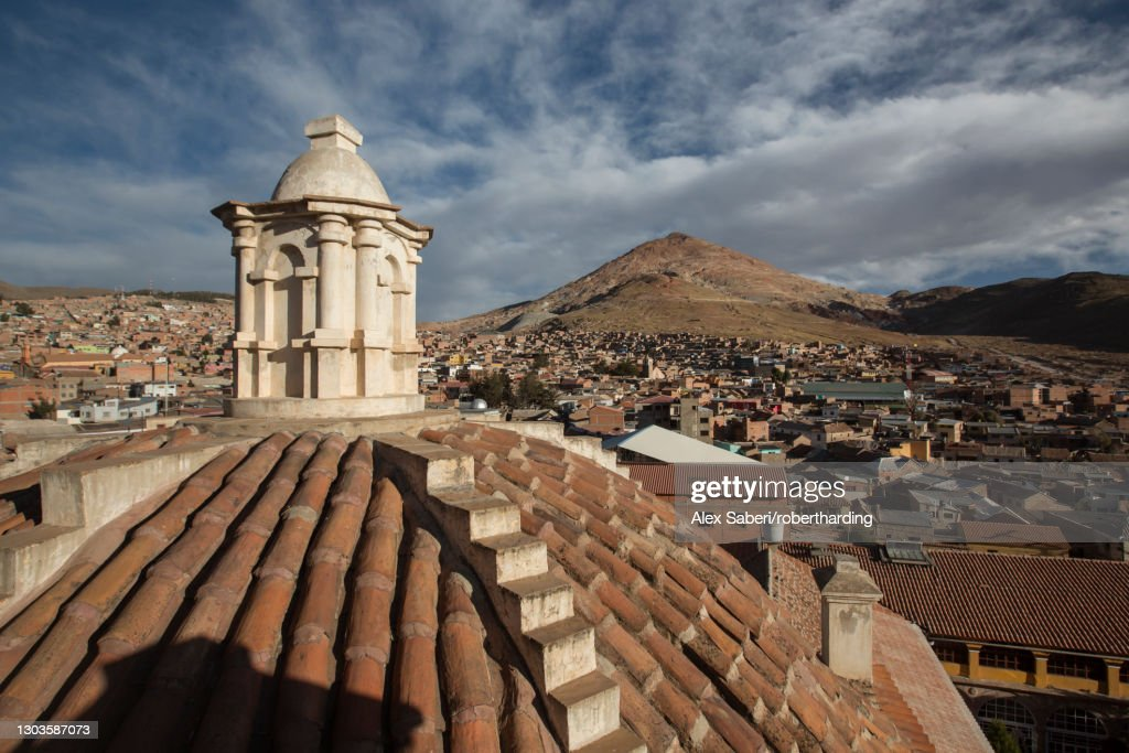Iglesia de San Lorenzo de Carangas, Potosi, Bolivia, South America : Stock Photo
