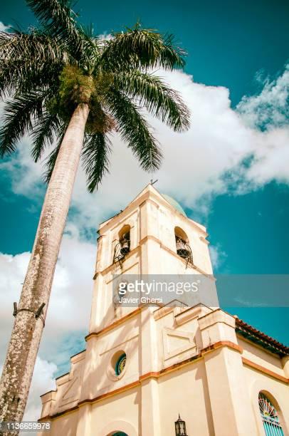 iglesia del sagrado corazón de jesús. viñales, cuba. - patrimonio de la humanidad por la unesco fotografías e imágenes de stock