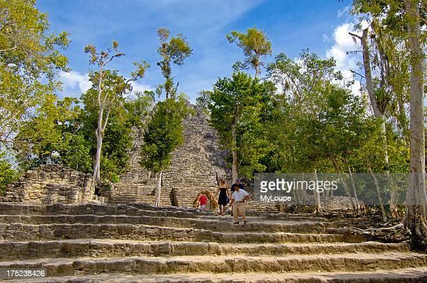 Iglesia ruin Mayan ruins of Coba Caribe Quintana Roo state Mayan Riviera Yucatan Peninsula Mexico