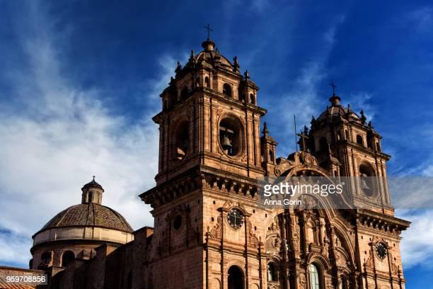 Iglesias de la Compania de Jesus facade on spring afternoon in Plaza de Armas, Cusco, Peru