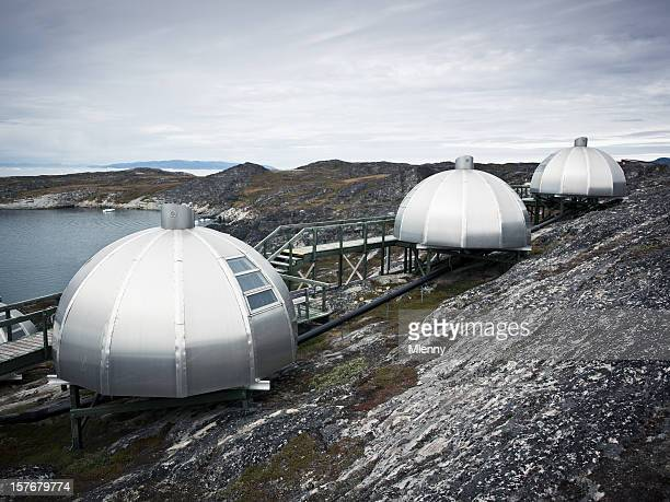 igloo arctic west greenland - igloo stock pictures, royalty-free photos & images