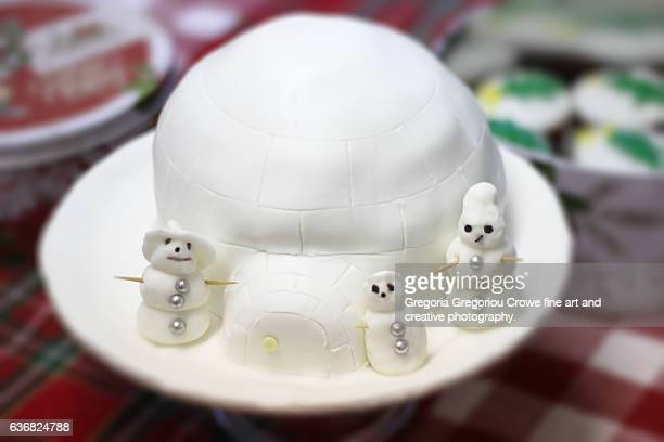 igloo cake - gregoria gregoriou crowe fine art and creative photography. - fotografias e filmes do acervo
