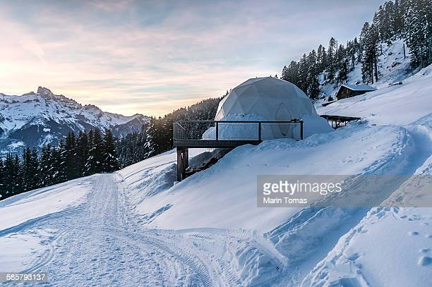 Igloos at sunrise