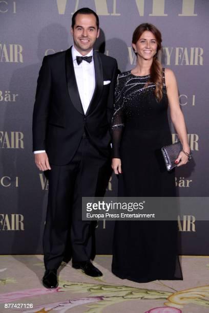 Ignacio Aguado and Esther Ruiz attend the gala 'Vanity Fair Personality of the Year' to Garbine Muguruza at Ritz Hotel on November 21 2017 in Madrid...