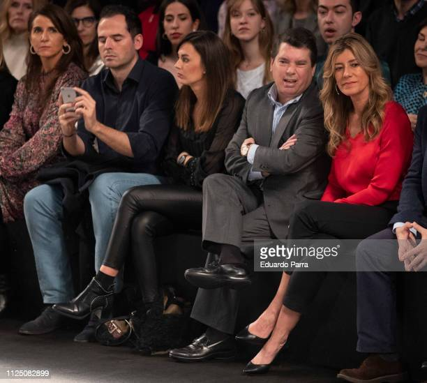 Ignacio Aguado and First Lady Begona Gomez attend the Teresa Helbig fashion show during the Mercedes Benz Fashion Week Autumn/Winter 20192020 at...