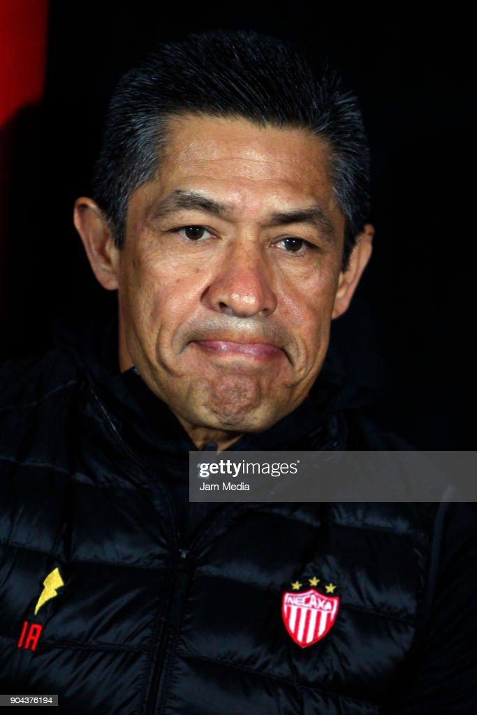 Ignacio Ambriz coach of Necaxa looks on during the second round match between Tijuana and Necaxa as part of Torneo Clausura 2018 Liga MX at Caliente Stadium on January 12, 2018 in Tijuana, Mexico.