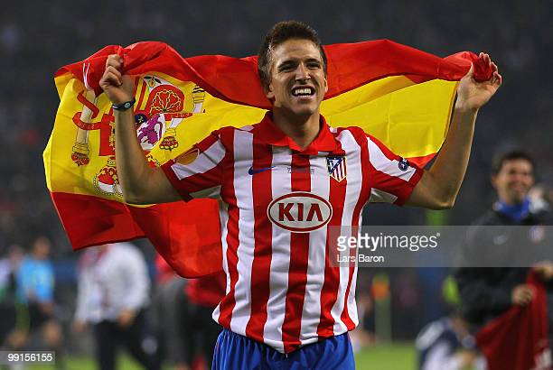Ignacio Camacho of Atletico Madrid celebrates their victory after extra time at the end of the UEFA Europa League final match between Atletico Madrid...