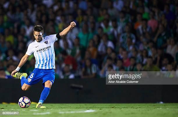 Ignacio Camacho of Malaga CF in action during the match between Real Betis Balompie vs Malaga CF as part of La Liga at Benito Villamarin stadium on...
