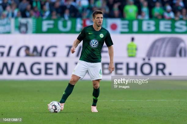 Ignacio Camacho of VfL Wolfsburg controls the ball during the Bundesliga match between VfL Wolfsburg and Borussia Moenchengladbach at Volkswagen...
