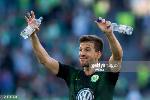 Ignacio Camacho of VfL Wolfsburg gestures during the Bundesliga match between VfL Wolfsburg and Borussia Moenchengladbach at Volkswagen Arena on...