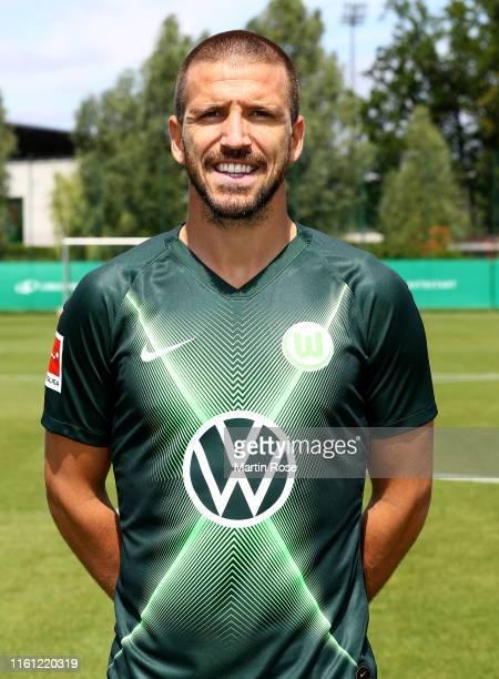 Ignacio Camacho of VfL Wolfsburg poses during the team presentation on July 10, 2019 in Wolfsburg, Germany.