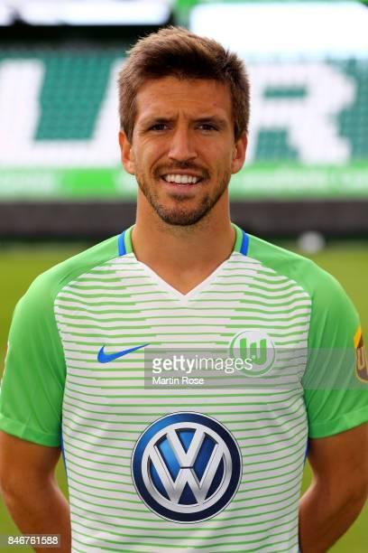 Ignacio Camacho of VfL Wolfsburg poses during the team presentation at on September 13 2017 in Wolfsburg Germany