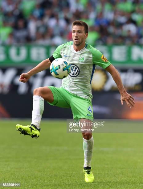 Ignacio Camacho of Wolfsburg controls the ball during the Bundesliga match between VfL Wolfsburg and Borussia Dortmund at Volkswagen Arena on August...