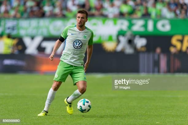 Ignacio Camacho of Wolfsburg controls the ball during to the Bundesliga match between VfL Wolfsburg and Borussia Dortmund at Volkswagen Arena on...