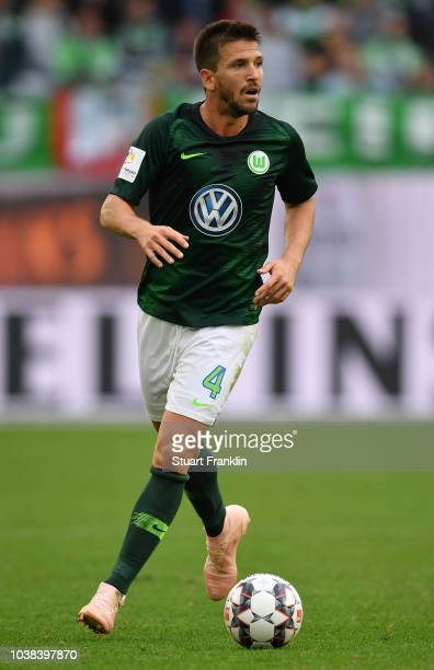 Ignacio Camacho of Wolfsburg in action during the Bundesliga match between VfL Wolfsburg and Sport-Club Freiburg at Volkswagen Arena on September 22,...