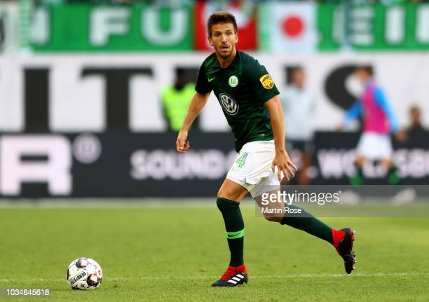 Ignacio Camacho of Wolfsburg runs with ball during the Bundesliga match between VfL Wolfsburg and Hertha BSC at Volkswagen Arena on September 15,...
