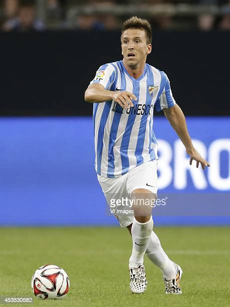 Ignacio Camcho of Malaga CF during the preseason Schalke 04 Cup match between Malaga CF and Newcastle United on August 2 2014 at the Veltins Arena in...