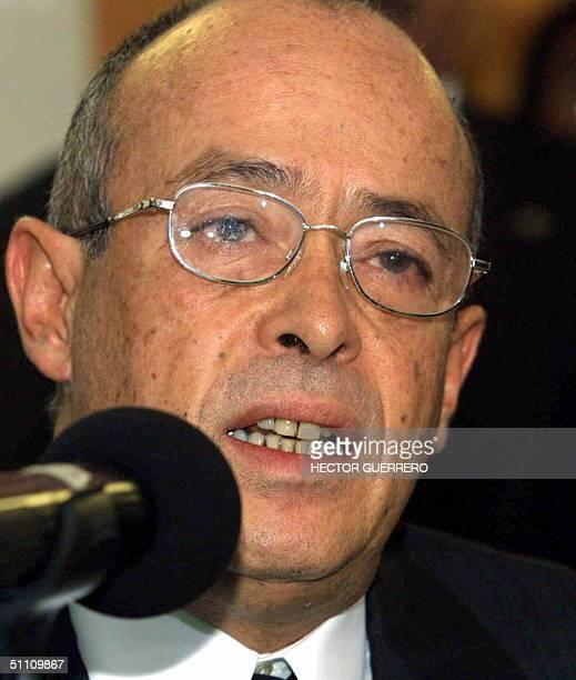 Ignacio Carrillo fiscal especial de la Fiscalia Especial para Movimientos Sociales y Politicos del pasado responde preguntas a la prensa en Ciudad de...