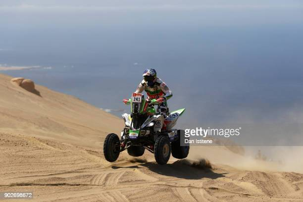 Ignacio Casale of Chile and Casale Racing rides a Raptor 750 Yamaha quad bike in the Classe : GQ.1 : 2 Roues Motrices - 0 during stage three of the...