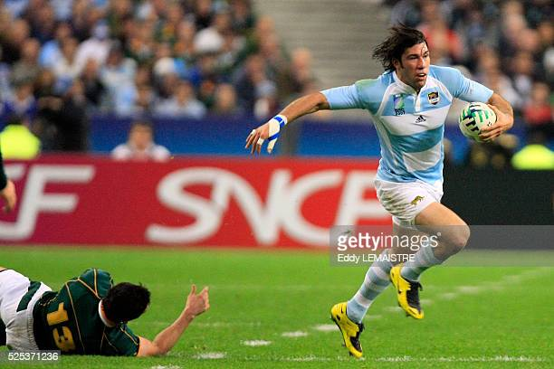 Ignacio Corleto during the IRB World Cup rugby match semi final between South Africa and Argentina.   Location: Saint Denis, France.