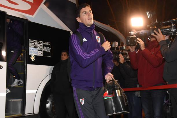 ARG: River Plate Arrives At San Luis