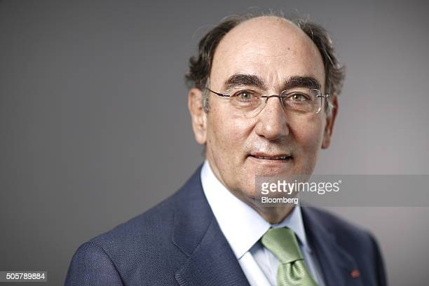 Ignacio Galan chairman of Iberdrola SA poses for a photograph following a Bloomberg Television interview in Davos Switzerland on Wednesday Jan 20...