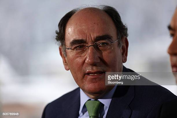 Ignacio Galan chairman of Iberdrola SA speaks during a Bloomberg Television interview at the World Economic Forum in Davos Switzerland on Wednesday...