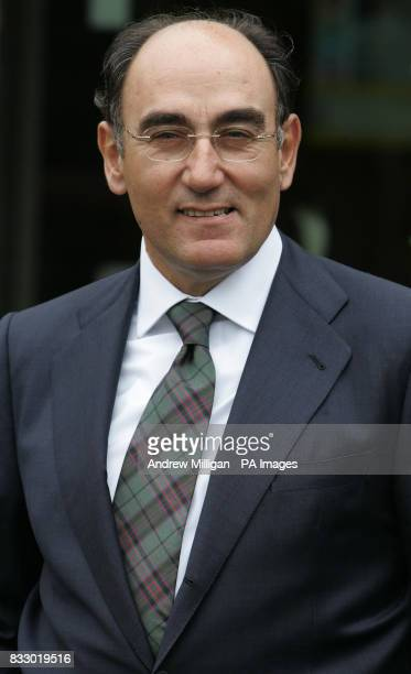 Ignacio Galan chief executive and Chairman of Iberdrola during an official visit by First Minister Alex Salmond to the Longannet Power Station where...