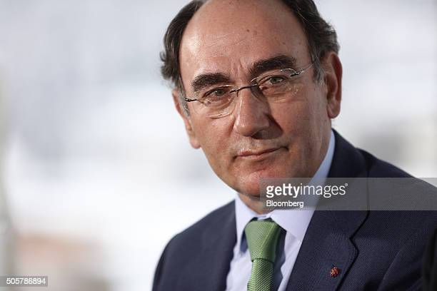 Ignacio Galan chief executive officer of Iberdrola SA looks on during a Bloomberg Television interview at the World Economic Forum in Davos...