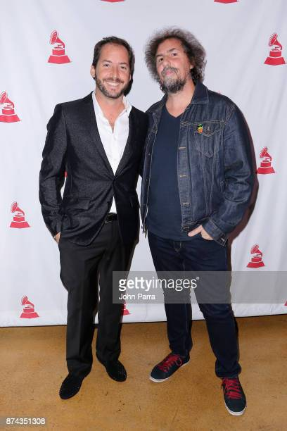 Ignacio Gana and Claudio Roncoli attend the CPI Event during the 18th annual Latin Grammy Awards at the Hardwood Suite at Palms Casino Resort on...
