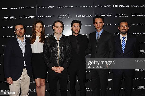 Ignacio GomezSancha Olga Kurylenko Charlie Cox Wes Bentley Rodrigo Santoro and Nacho Nunez attend The Cinema Society Grey Goose screening of There Be...