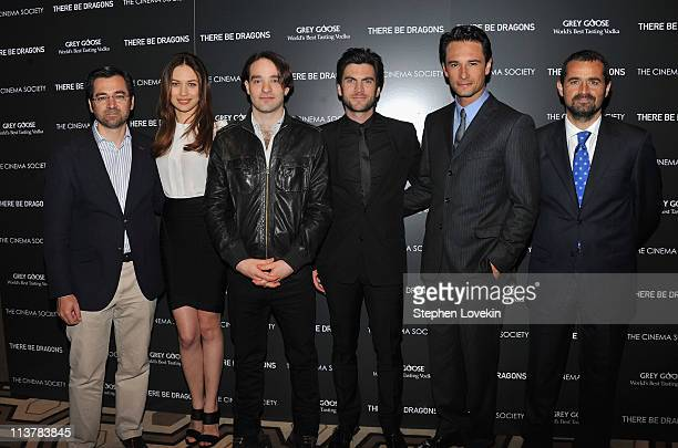 Ignacio GomezSancha Olga Kurylenko Charlie Cox Wes Bentley Rodrigo Santoro and Nacho Nunez attend The Cinema Society Grey Goose screening of 'There...