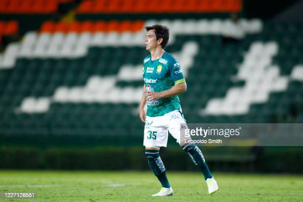 Ignacio Gonzalez of Leon looks on during a match between Leon and FC Juarez as part of the friendly tournament Copa Telcel at Leon Stadium on July 14...