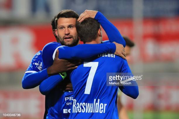Ignacio Jauregui of Wattens during the UNIQA OeFB Cup match between TSV Hartberg and WSG Wattens at Profertil Arena on September 25 2018 in Hartberg...