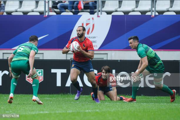 Ignacio Martin of Spain during match between Ireland and Spain at the HSBC Paris Sevens stage of the Rugby Sevens World Series at Stade Jean Bouin on...