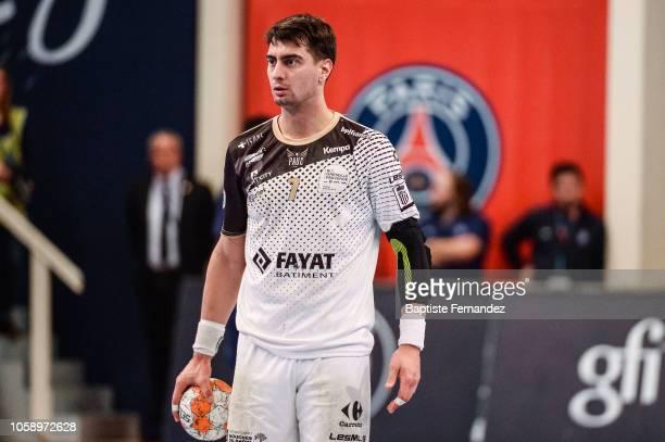 Ignacio Pecina Tome of Pays d'Aix Universite during the Lidl Starligue match between Paris Saint Germain and Pays d'Aix Universite Club at Stade...