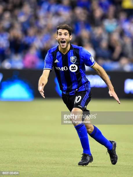 Ignacio Piatti of the Montreal Impact reacts during the MLS game against the Seattle Sounders FC at Olympic Stadium on March 11 2017 in Montreal...